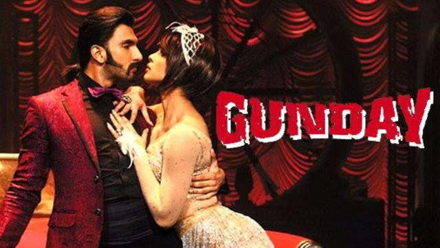 Ranveer Singh And Priyanka Chopra Romantic Dance Pose In Asalaam-E-Ishqum Song From Gunday Movie Poster