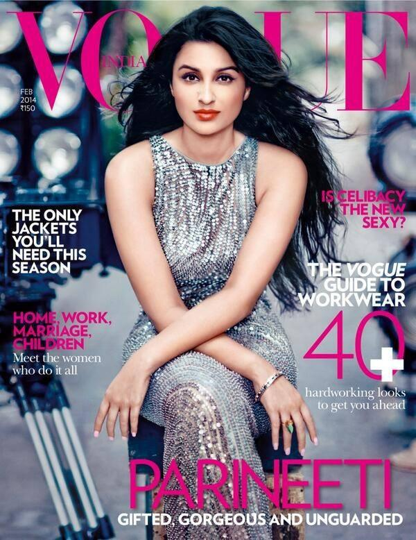 The Latest Queen Of Bollywood Parineeti Chopra Graced The Cover Of Vogue India February 2014 Issue