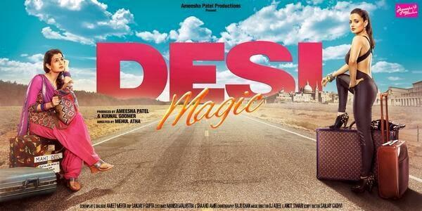 Ameesha Diffent Look On Desi Magic Movie First Look Poster