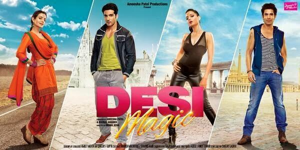 Ameesha,Zayed And Sahil Stylist Poster For Movie Desi Magic First Look