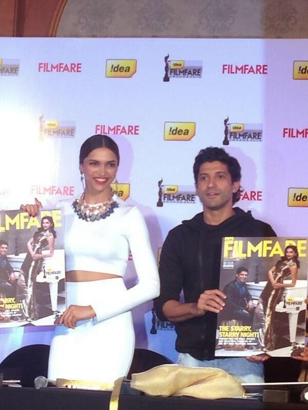 The 59th Idea Filmfare Awards Special Issue Was Launched By Farhan And Deepika