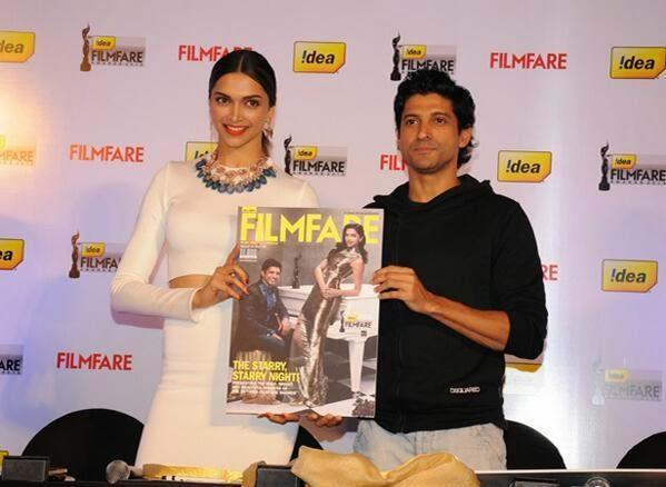 Deepika And Farhan Launch The Filmfare Cover