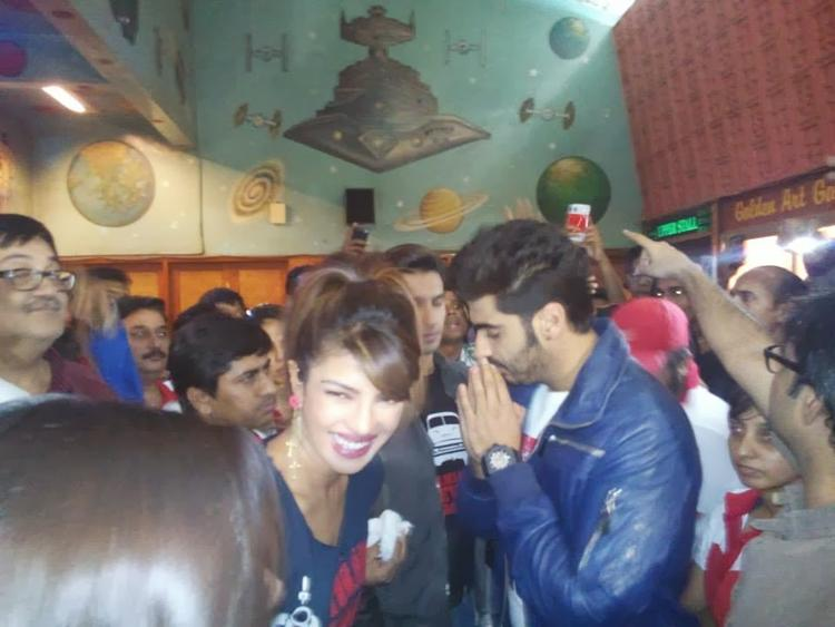Priyanka Chopra And Arjun Kapoor Nice Cool Look At Gaiety Theatre