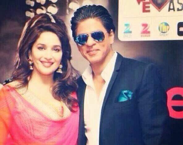 Madhuri And SRK Cute Face Look At The Temptation Reloaded 2014 Press Conference