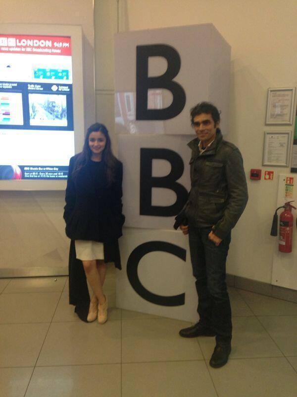 Alia Bhatt And Imtiaz Ali In London To Promote Highway