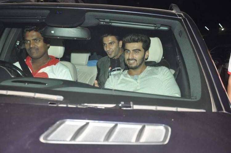 Arjun And Ranveer Arrives Chandan Theatre To Promote Gunday