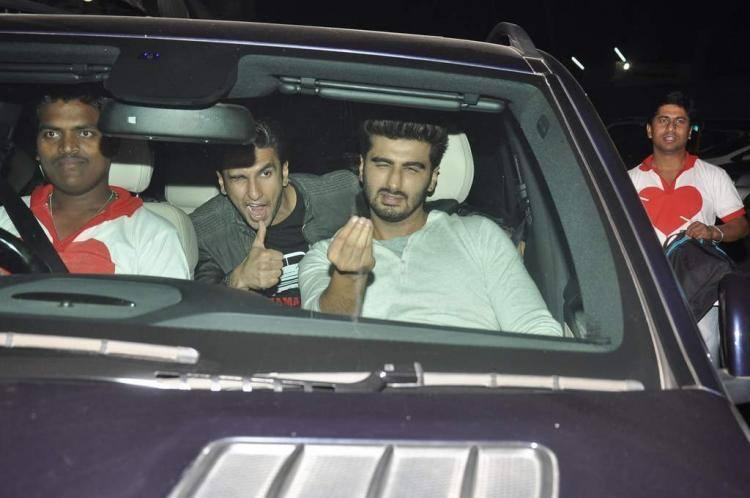 Arjun And Ranveer Spotted At Chandan Theatre To Promote Gunday
