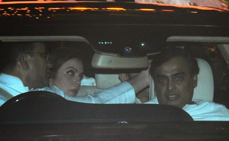 Nita Ambani And Mukesh Ambani At Kokilaben Ambani's Birthday Bash