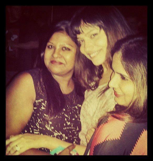 Ankita Celebrates V-Night With Her Friends