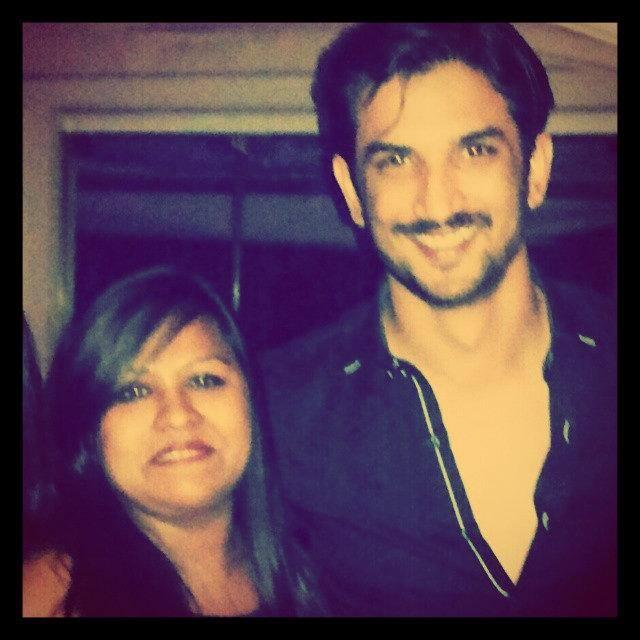 Sushant Smiling Pose For Camers During Celebrating V-Night With Friends