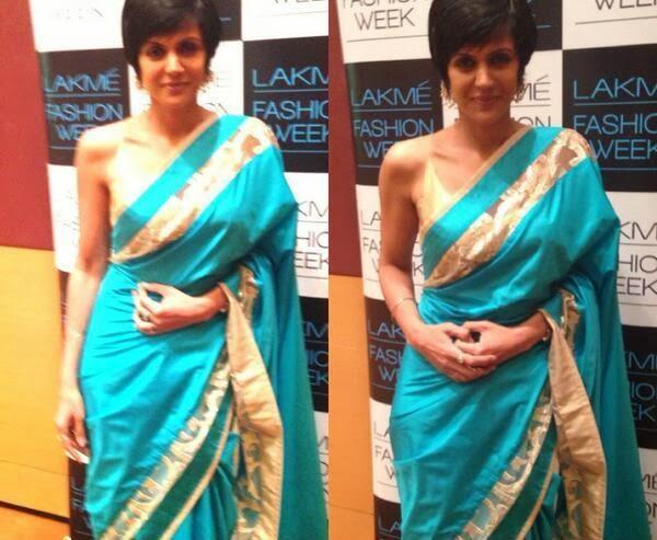 Actress Mandira Bedi In Saree At Lakme Fashion Week 2014