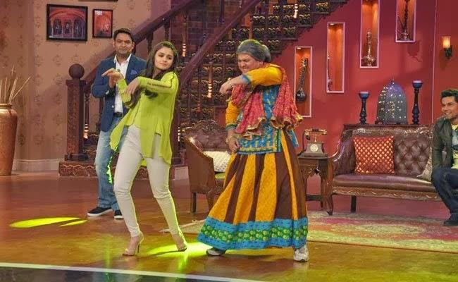 Alia Performs With Dadi During Highway Promotion At Comedy Nights With Kapil