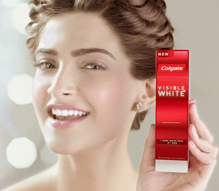 Colgate Visible White Ad Photoshoot Sonam Kapoor Still