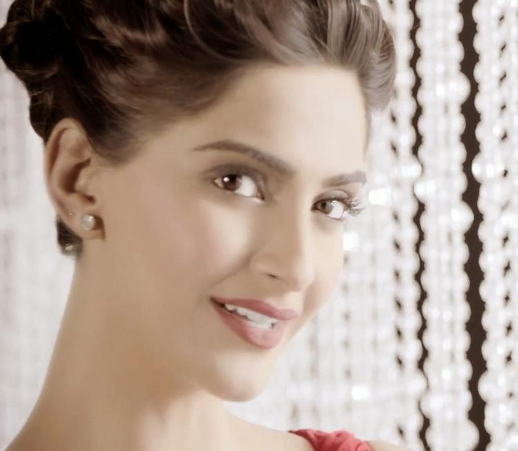 Sonam Kapoor Ad Shoot For Colgate Visible White Toothpaste