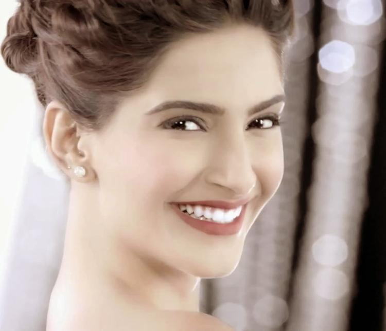 Sonam Kapoor Close Up Pose For Colgate Visible White Ad Shoot