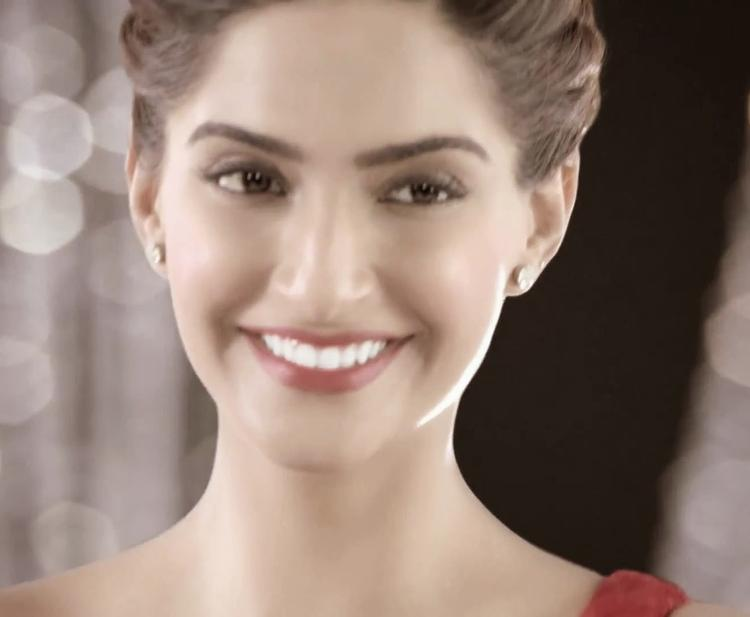 Sonam Kapoor Smiling Pose Photoshoot For Colgate Visible White Ad