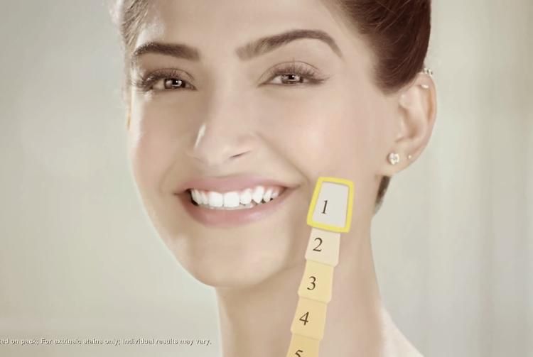 Sonam Kapoor White teeth Exposing Photo Shoot For Colgate Visible White Ad
