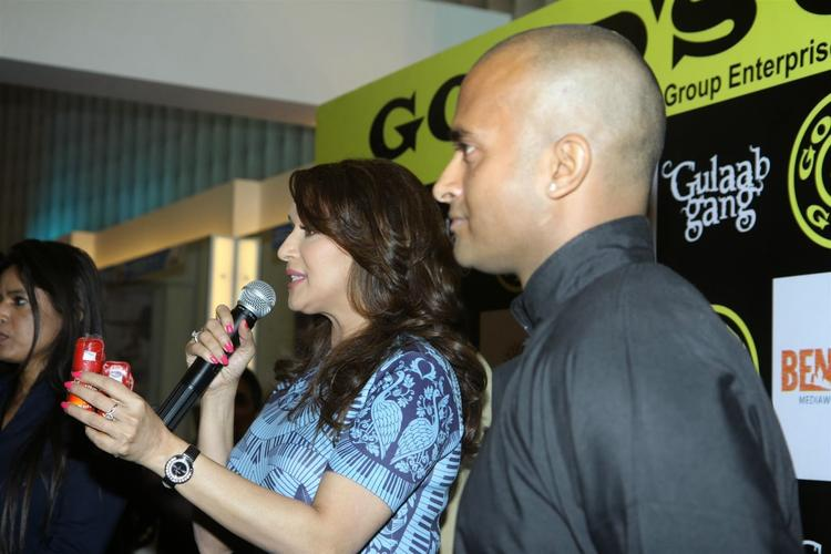 Madhuri Dixit Attended The Launch Of Gold's Gym In Mumbai To Promote Gulaab Gang