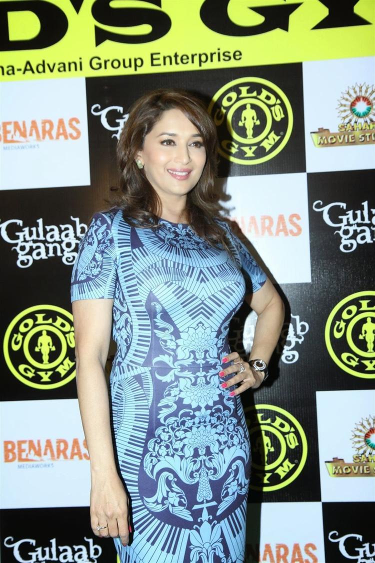 Madhuri Dixit Promotes Women-Centric Film 'Gulaab Gang' In Mumbai At Gold Gym