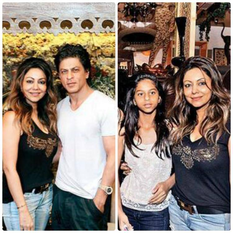 Gauri With Hubby SRK And Daughter Suhana Posed During The Launch Of Gauri's Lifestyle Store The Design Cell