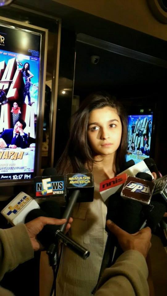 Cute Bubbly Girl Alia Bhatt Press Meet Still For Highway