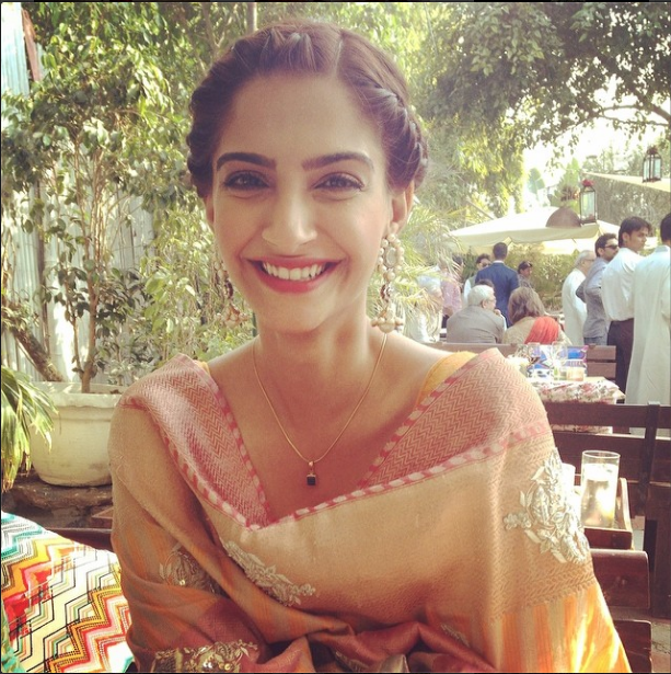 Sonam Kapoor Smiling Cool Photo At Her Friend's Wedding Ceremony