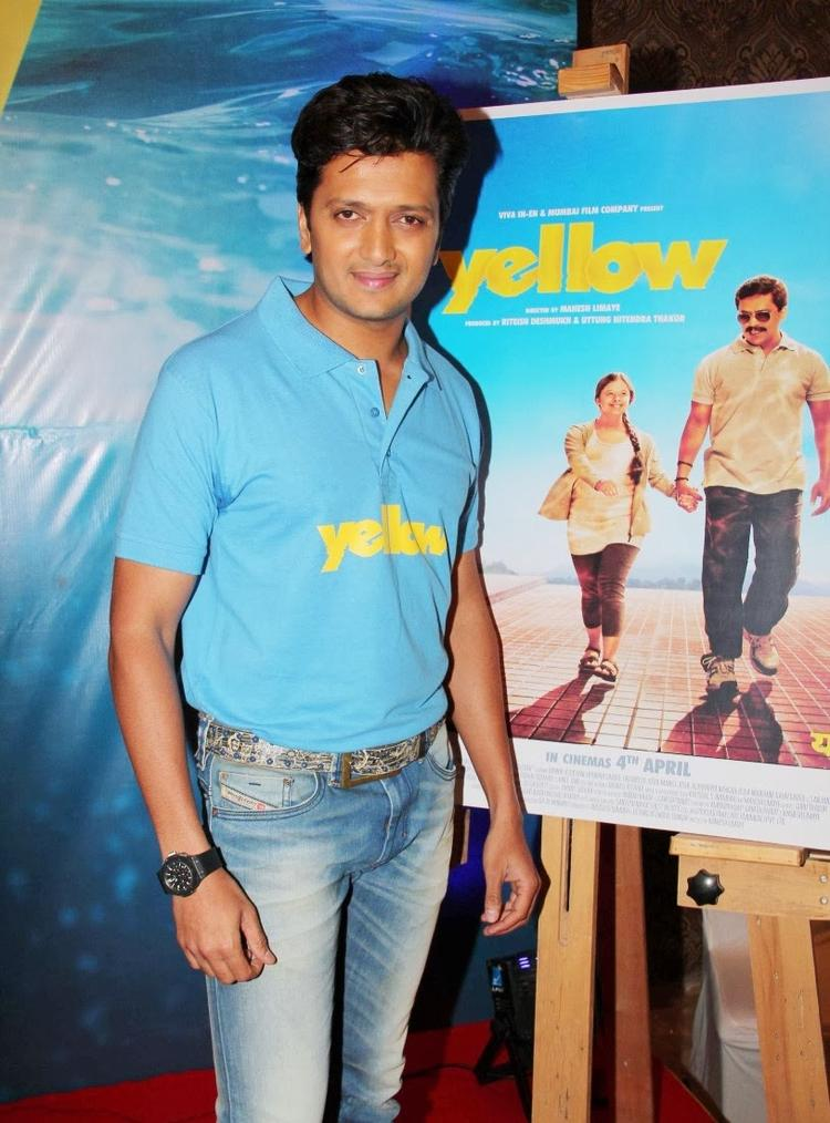 Riteish Deshmukh Strikes A Pose At The Trailer Launch Of Marathi Movie Yellow
