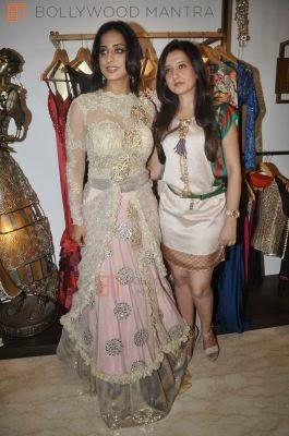 Mahie Gill And Amy Strikes For Camera During Mahie's Makeover For Gang Of Ghosts Movie