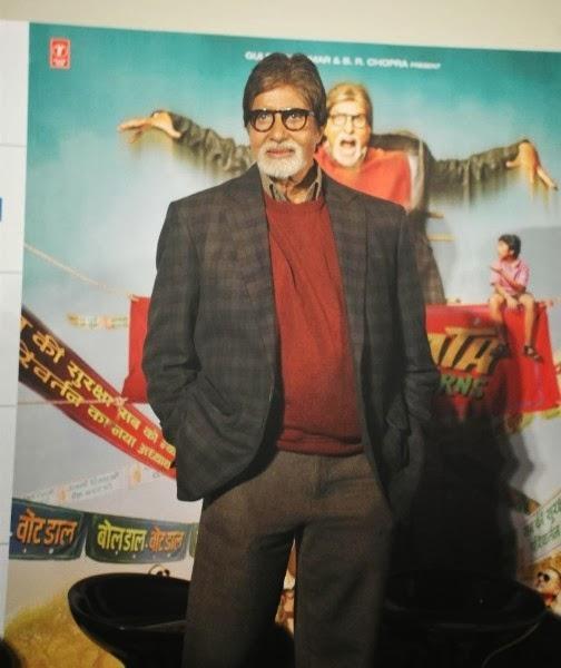 Amitabh Bachchan During The Bhoothnath Returns Trailer Launch