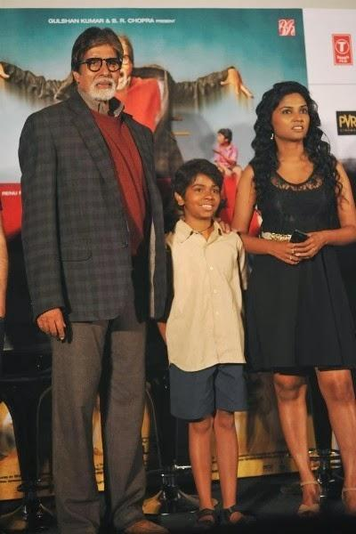 Amitabh Child Artist Parth And Actress Usha At Film Bhootnath Returns Trailer Launch In Mumbai