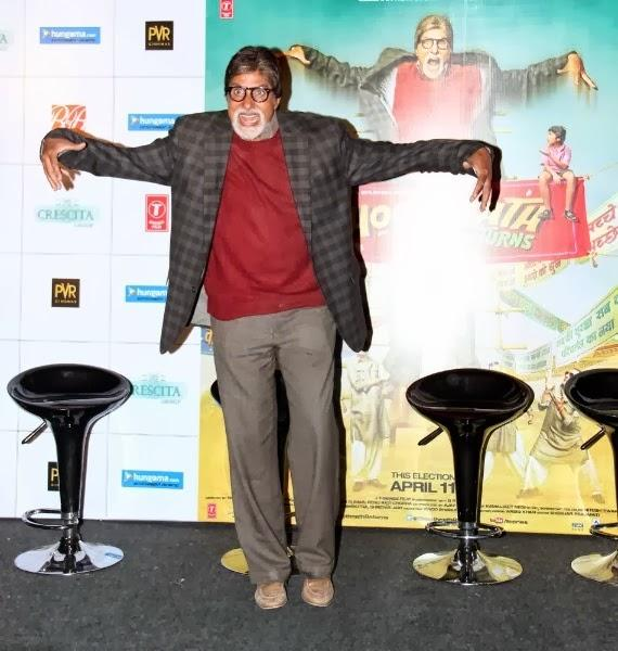 Bhoothnath Returns Theatrical Trailer Launch Event Amitabh Strikes A Bhoot Pose