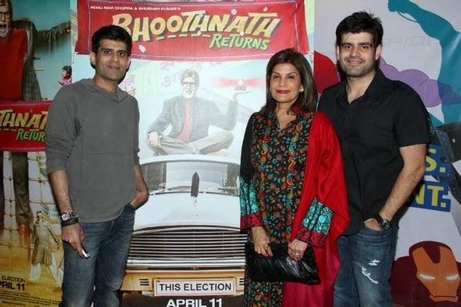 Producer Abhay Chopra Was Accompanied By His Mother And Brother For The Trailer Launch