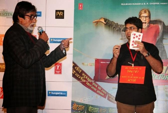 Superstar Amitabh Performs Magic At Bhoothnath Returns Trailer Launch Event