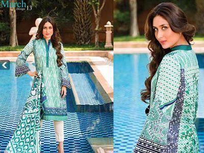 Kareena Kapoor Khan Glamour Pose For Faraz Manan's Crescent Lawn 2014 Collection