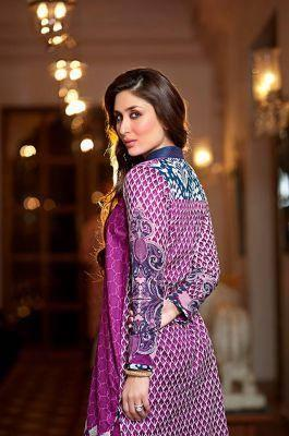 Kareena Kapoor Khan Gorgeous Look For Faraz Manan's Crescent Lawn 2014 Collection