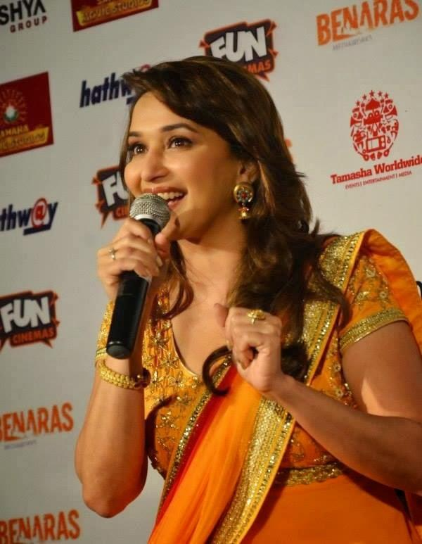 Madhuri Interacts With Madia During The Gulaab Gang Promotion In Bhopal
