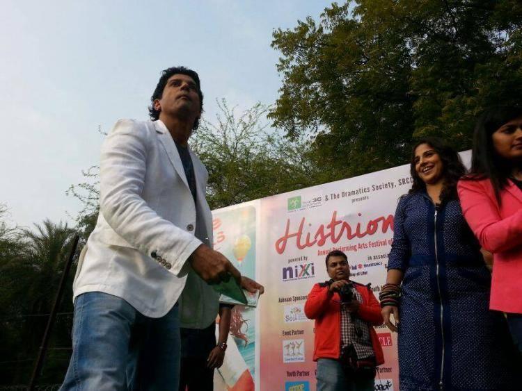 Farhan Akhtar And Vidya Balan Cool Danced At Delhi During The Promotion Of SKSE
