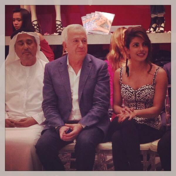 Priyanka Chopra And Paul Marciano At Dubai During The Launch Of GUESS Store