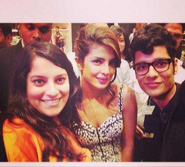Priyanka Chopra Dazzling Cool Pose With Friends During The Launch Of GUESS Store At Dubai