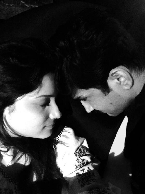 Ankita And Sushant Romancing Moment Latest Still