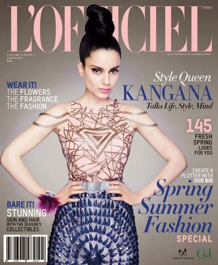 Kangana Hot Look On The Cover Of Lófficiel
