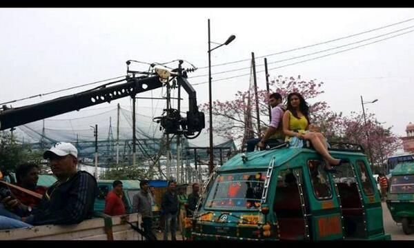 Parineeti And Aditya New Movie Daawat E Ishq New Song Shooting Still
