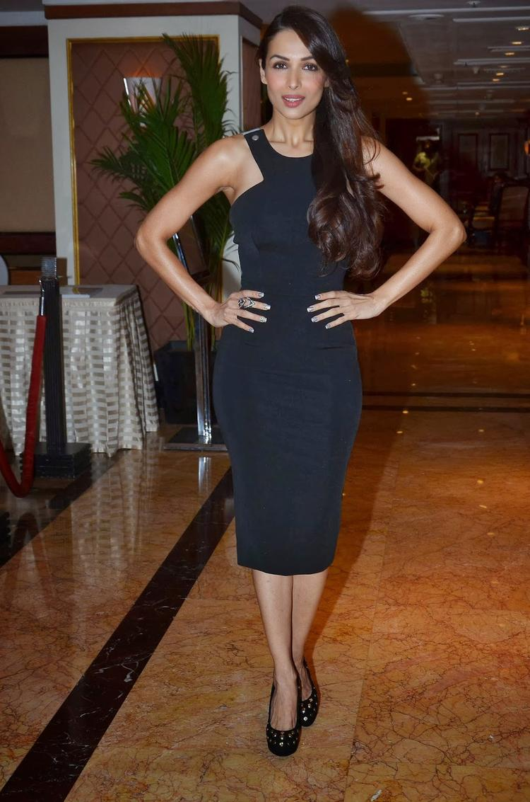 Malaika Strikes A Pose During The IFF Of Melbourne 2014 Press Conference