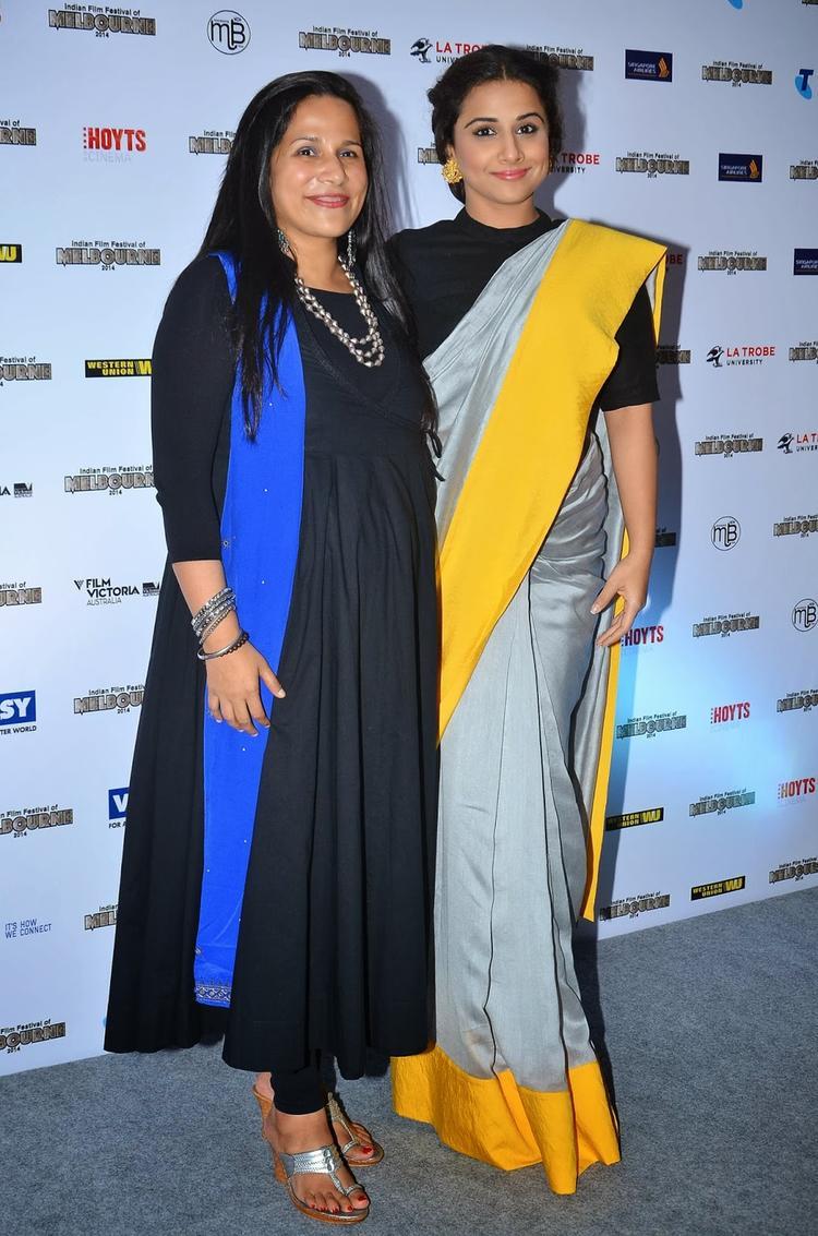 Mitu Bhowmick And Vidya Balan Nice Pose At The IFFM 2014 Press Conference