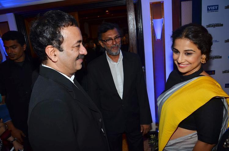Rajkumar Hirani Light Moment With Vidya At The IFFM 2014 Press Conference