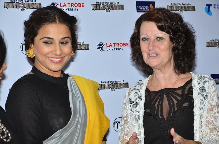 Vidya Balan And Louise Asher During The The Indian Film Festival Of Melbourne Press Conference