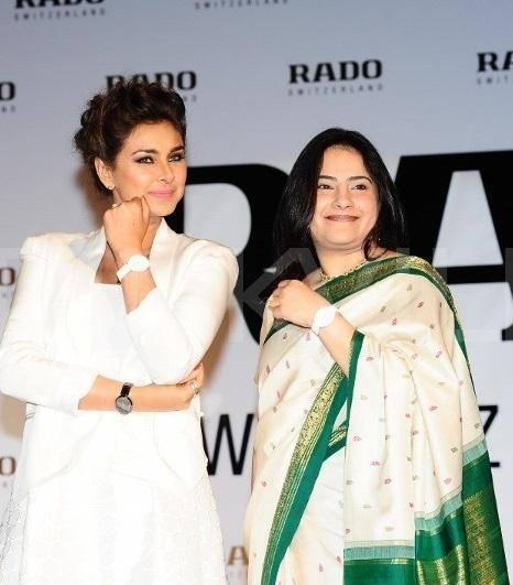 Lisa Ray Shows The Watch At Rado Esenza Ceramic Touch Watches Launching Event