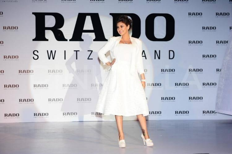 Lisa Ray Strikes A Posed During The Launch Of Rado Esenza Ceramic Touch Watches