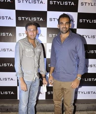 Cricketers Ajit Agarkar And Zaheer Khan Posed For Lenses At Stylista Bash In Honour Of Wendell Rodricks