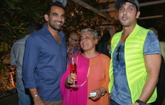 Zaheer Khan And Zayed Khan Cool Pose At Stylista Bash In Honour Of Wendell Rodricks